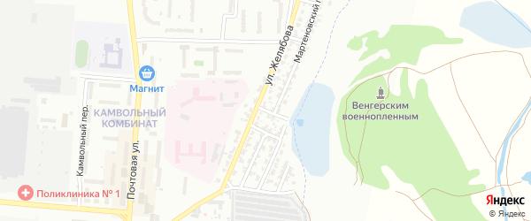 Формовочный переулок на карте Брянска с номерами домов