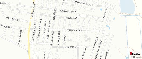 Турбинная улица на карте Брянска с номерами домов