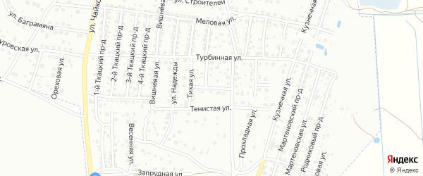 Переулок Текстильщиков на карте Брянска с номерами домов
