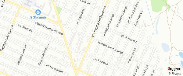 Улица Карла Либкнехта на карте Брянска с номерами домов