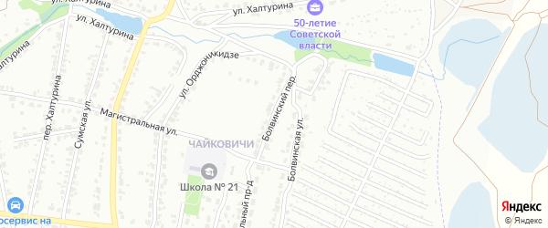 Болвинский переулок на карте Брянска с номерами домов