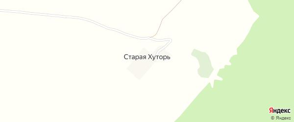 Луговая улица на карте поселка Старой Хуторя с номерами домов