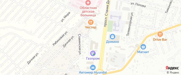 2-й Дачный переулок на карте села Супонево с номерами домов