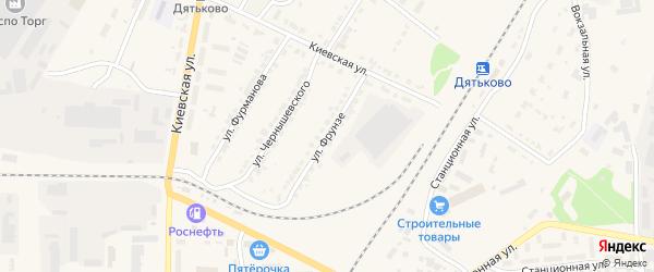Улица Фрунзе на карте Дятьково с номерами домов