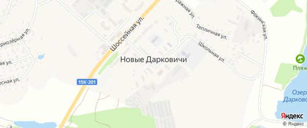 Шоссейная улица на карте поселка Новые Дарковичи с номерами домов