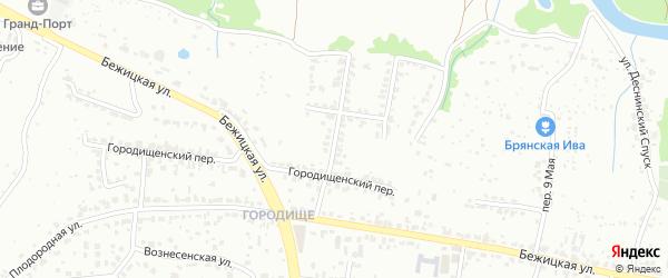 1-й Городищенский переулок на карте Брянска с номерами домов