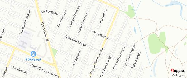 Лесная улица на карте Брянска с номерами домов