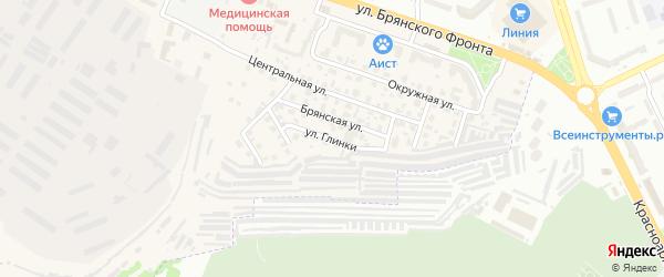 Улица Глинки на карте поселка Путевки с номерами домов