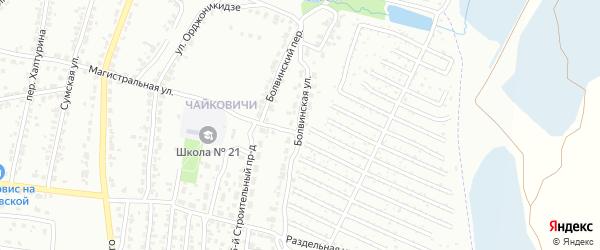 Болвинская улица на карте Брянска с номерами домов