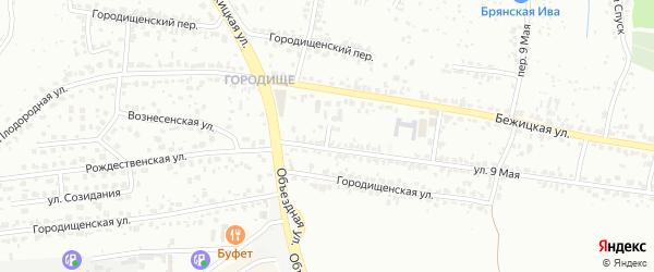 Объездной переулок на карте Брянска с номерами домов