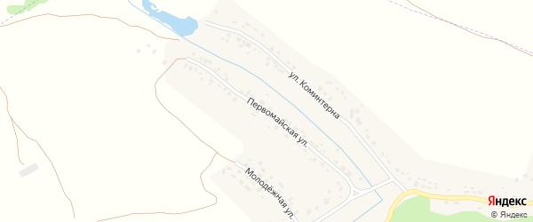 Первомайская улица на карте села Слободища с номерами домов