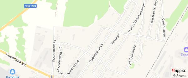 2-я Ново-Станционная улица на карте Дятьково с номерами домов