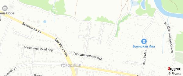 2-й Городищенский переулок на карте Брянска с номерами домов