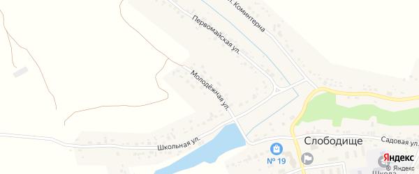 Молодежная улица на карте села Слободища с номерами домов