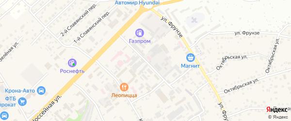 Комсомольский переулок на карте села Супонево с номерами домов