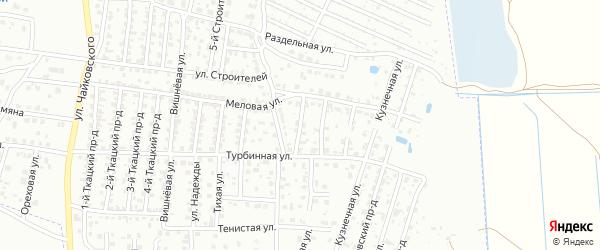 4-й Меловой проезд на карте Брянска с номерами домов