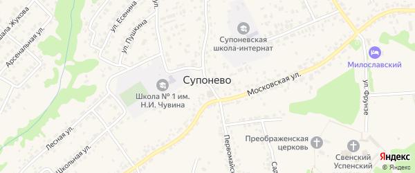 Светлая улица на карте села Супонево с номерами домов