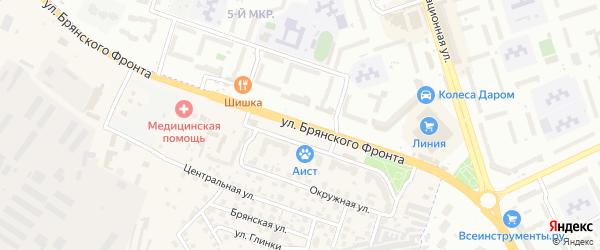 Улица Брянского Фронта на карте Брянска с номерами домов