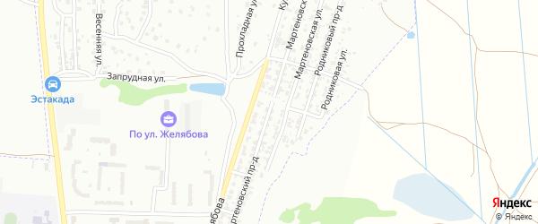 Мартеновский проезд на карте Брянска с номерами домов