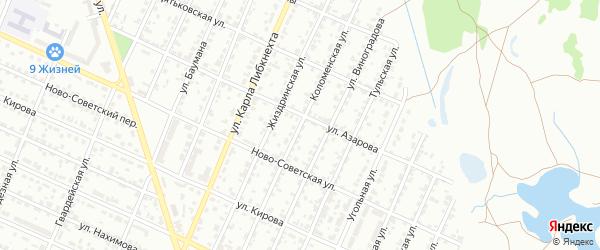 Коломенская улица на карте Брянска с номерами домов