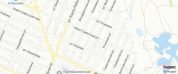 Улица Виноградова на карте Брянска с номерами домов