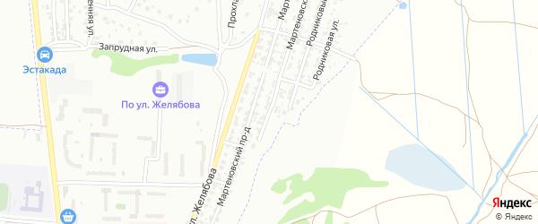 Мартеновская улица на карте Брянска с номерами домов