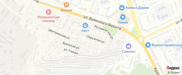 Окружная улица на карте поселка Путевки с номерами домов