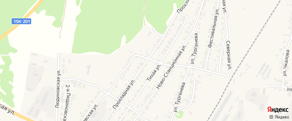 Прохладная улица на карте Дятьково с номерами домов