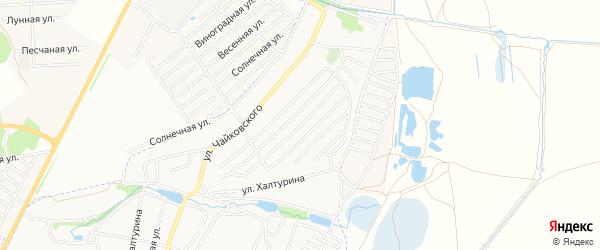 Территория СО Заря-1 на карте Брянска с номерами домов