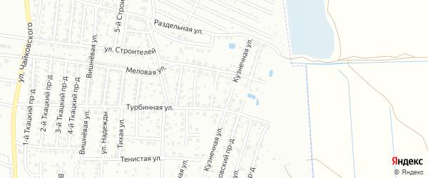 6-й Меловой проезд на карте Брянска с номерами домов
