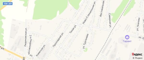 Тихая улица на карте Дятьково с номерами домов