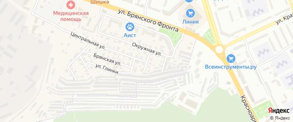 Брянский 1-й переулок на карте поселка Путевки с номерами домов