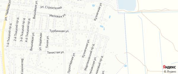 Кузнечная улица на карте Брянска с номерами домов