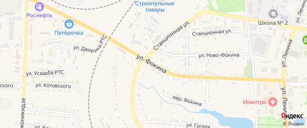 Улица Фокина на карте Дятьково с номерами домов
