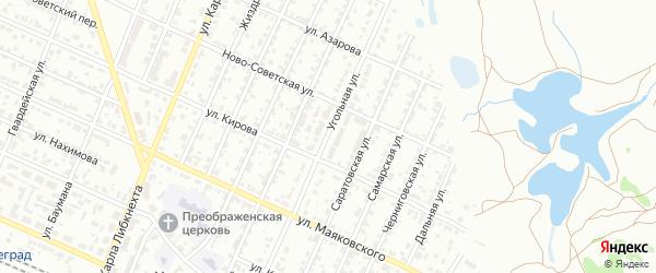 Угольная улица на карте Брянска с номерами домов