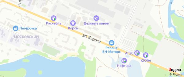Территория ПГСК ДЕСНА ПО УЛ.БУРОВА на карте Брянска с номерами домов