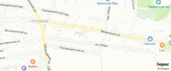 Огородный переулок на карте Брянска с номерами домов