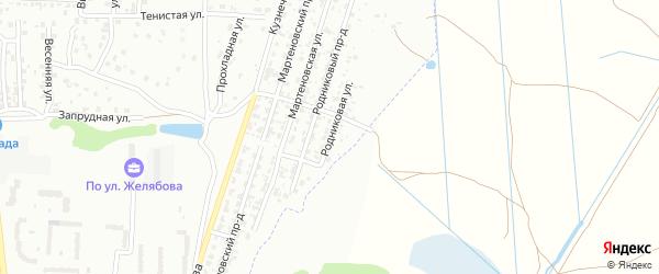 Родниковая улица на карте Брянска с номерами домов