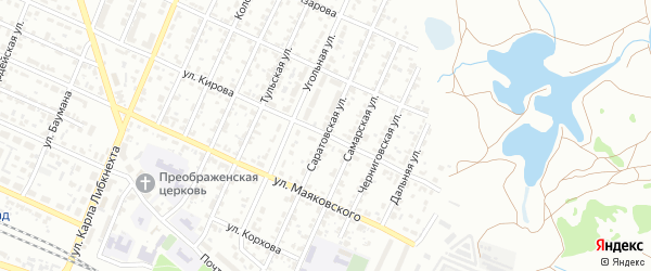 Саратовская улица на карте Брянска с номерами домов