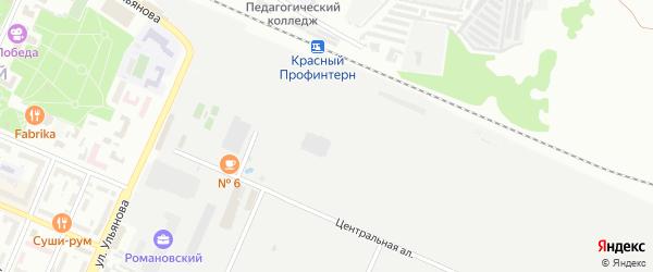 Аллея Металлургов на карте Брянска с номерами домов