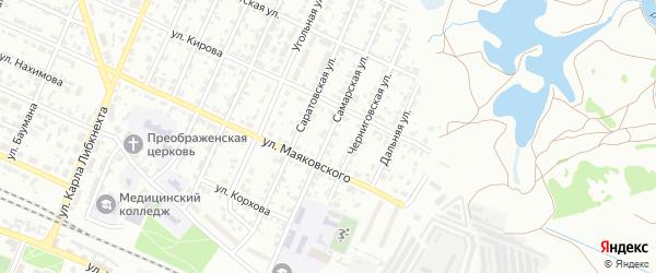 Самарская улица на карте Брянска с номерами домов