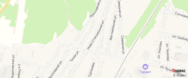 Ново-Станционная улица на карте Дятьково с номерами домов