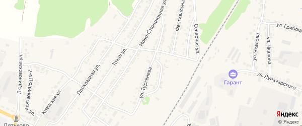 Улица Тургенева на карте Дятьково с номерами домов