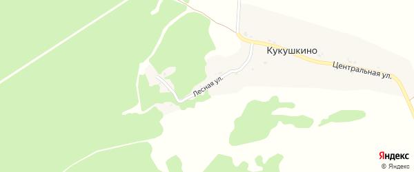 Лесная улица на карте села Кукушкино с номерами домов