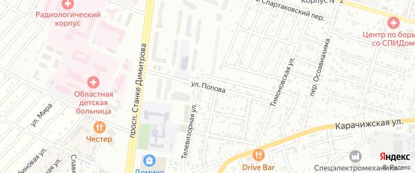 Улица Попова на карте села Супонево с номерами домов