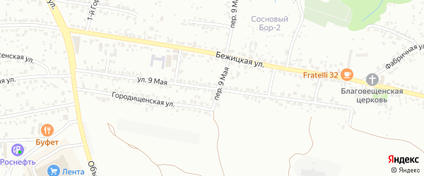 9 Мая улица на карте Брянска с номерами домов