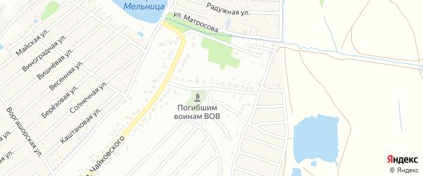 Переулок Чайковского на карте Брянска с номерами домов