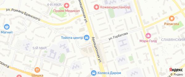 Авиационная улица на карте Брянска с номерами домов