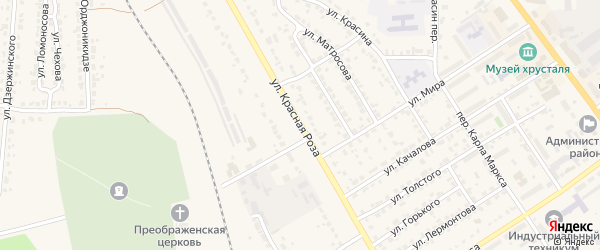 Улица Красная Роза на карте Дятьково с номерами домов
