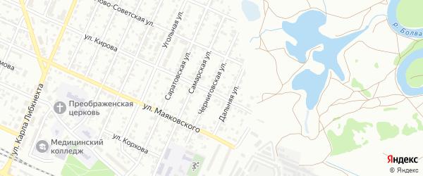 Черниговская улица на карте Брянска с номерами домов